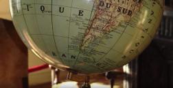 La mappemonde de l'ancien bureau du docteur Bergé